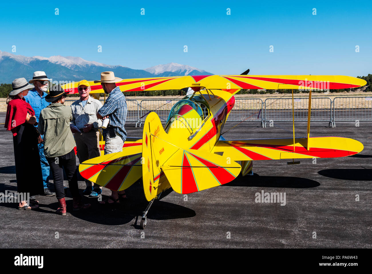 Pitts Special S1S 914HM biplane; Salida Fly-in & Air Show; Salida; Colorado; USA - Stock Image
