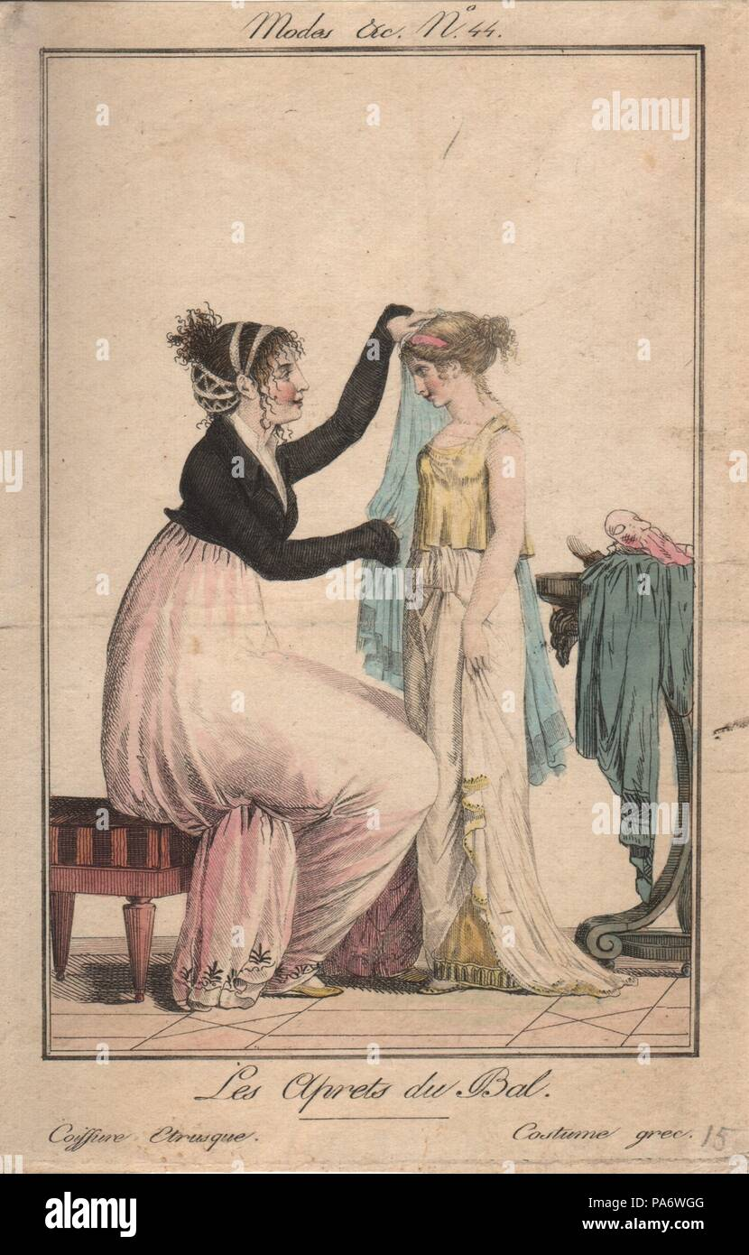Preparations For The Ball Etruscan Hairstyle Greek Costume Museum
