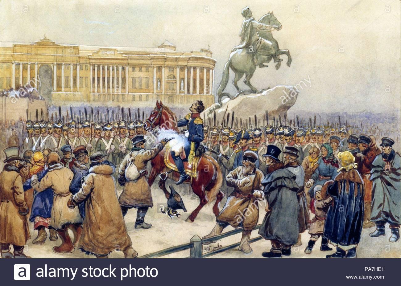 Decembrist uprising on Senate Square in 1825 54