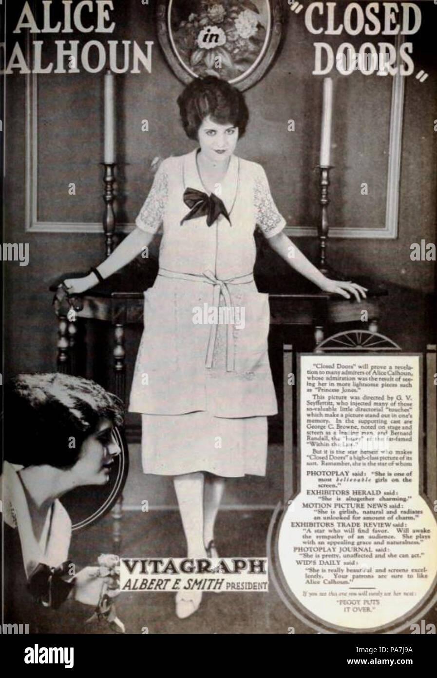 325 Closed Doors (1921) - 3 Stock Photo