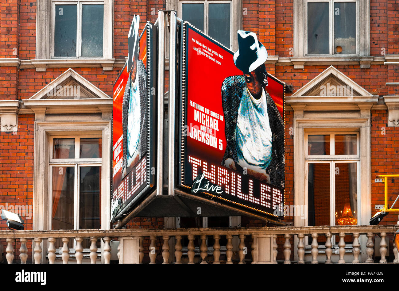 The Lyric Theatre in Shaftesbury avenue where 'Thriller Live' concert is performed in London's west end. - Stock Image