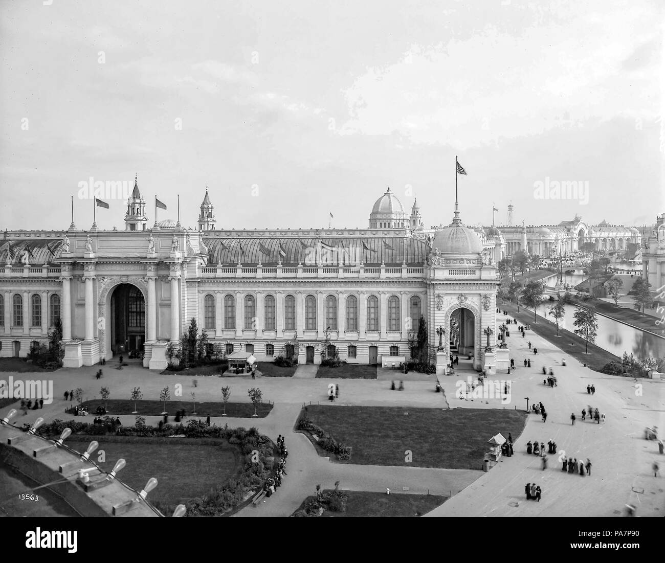 623 Entrance to the Palace of Varied Industries (1904) - Stock Image