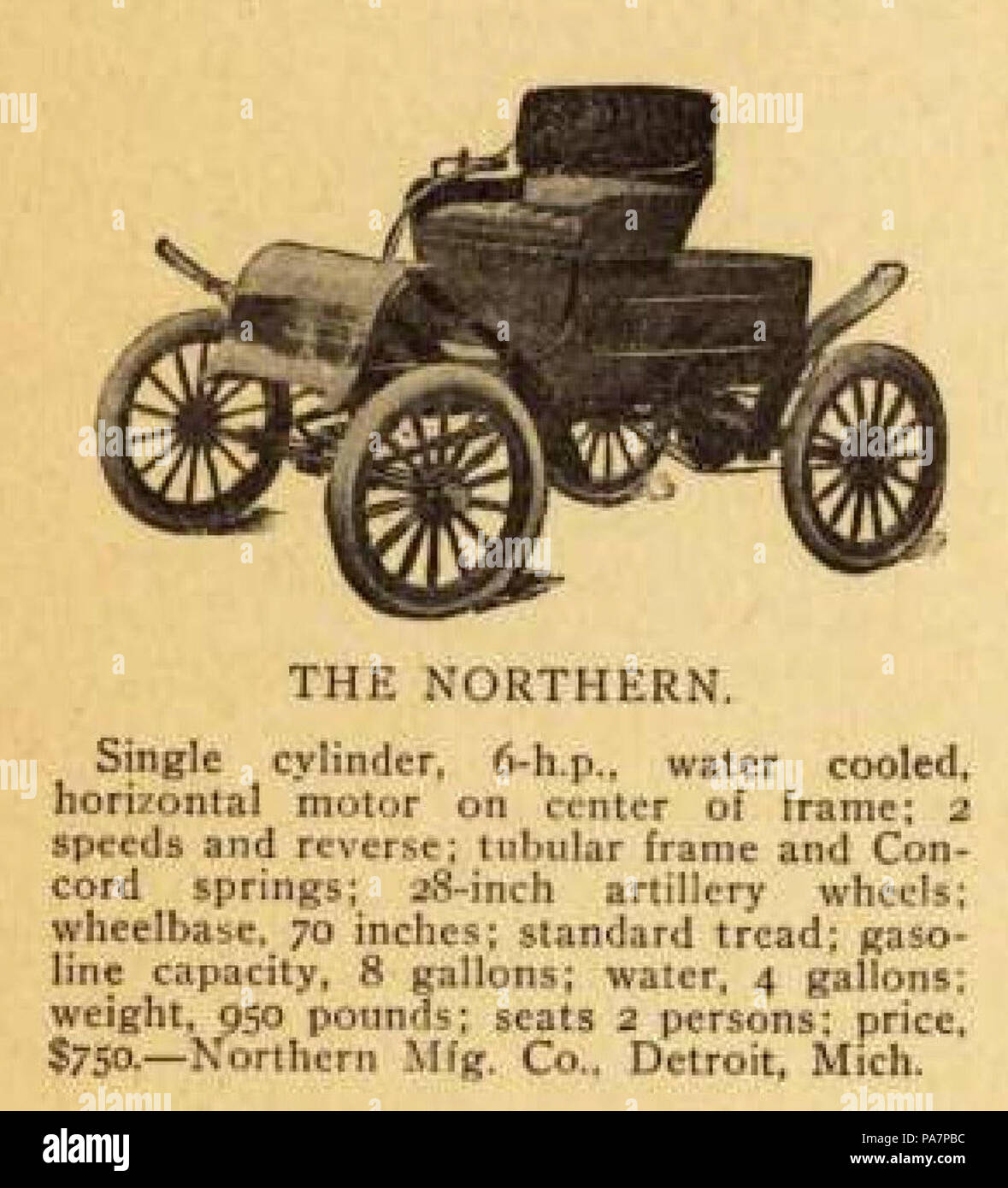 26 1904 Northern 6 HP Runabout - Stock Image