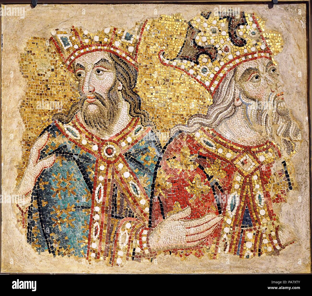 The Three Magi. Mosaic fragments from the Basilica San Marco, Venice. Museum: Saint Mark's Basilica, Venice. - Stock Image