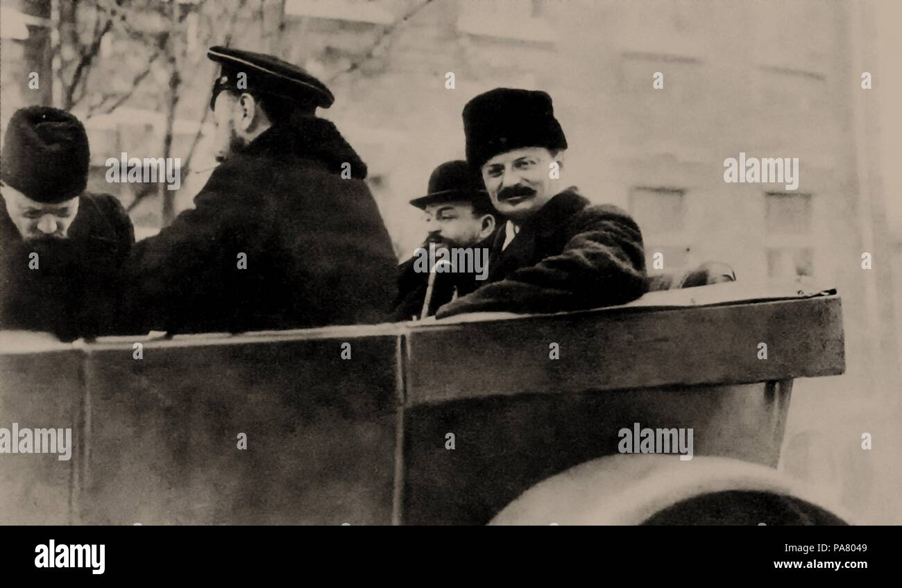 Trotsky and Joffe in Brest-Litovsk, 1918. Museum: Russian State Historical Library, Moscow. - Stock Image