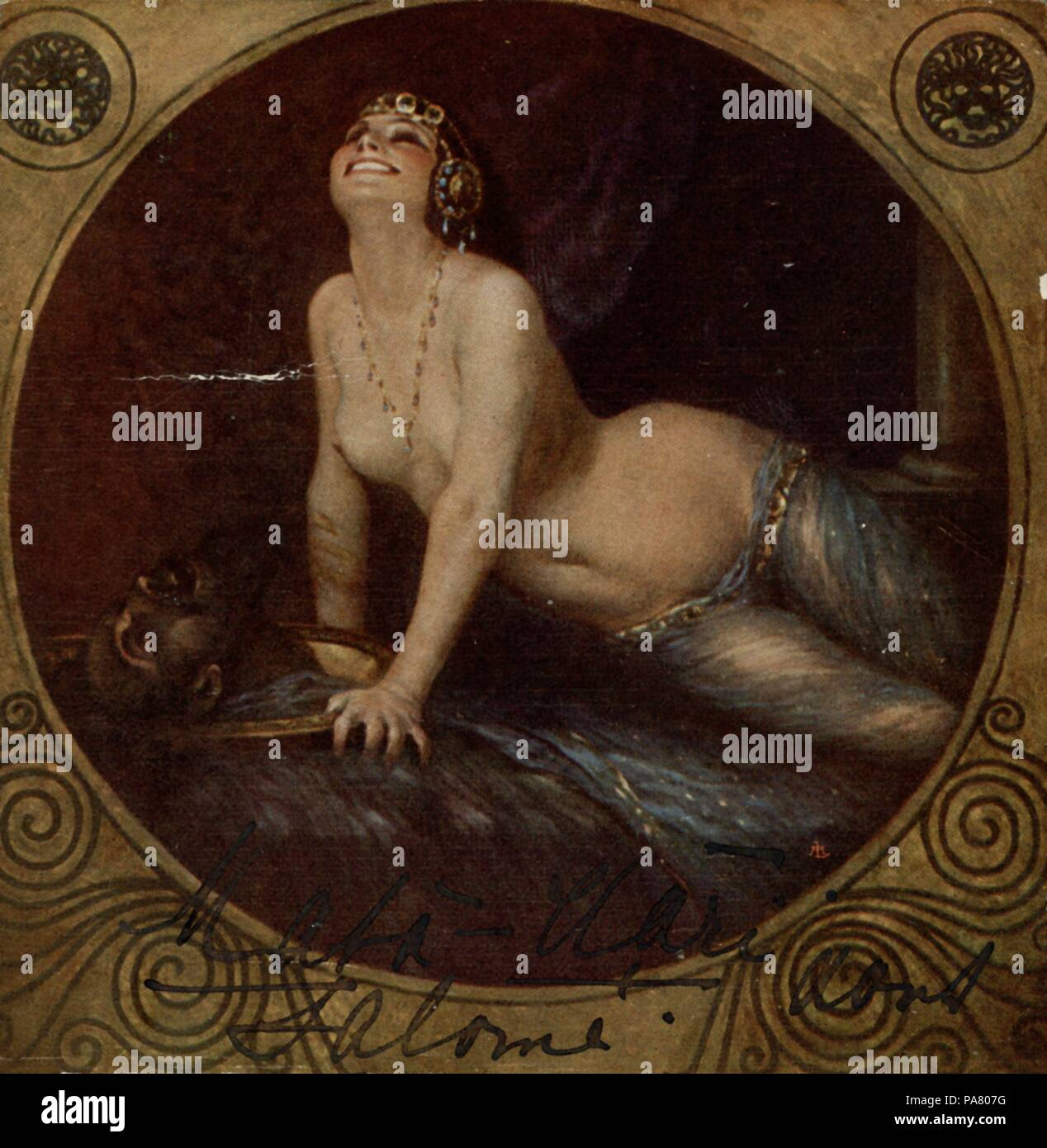 Mata Hari as Salome. Museum: Fries Museum, Leeuwarden. - Stock Image