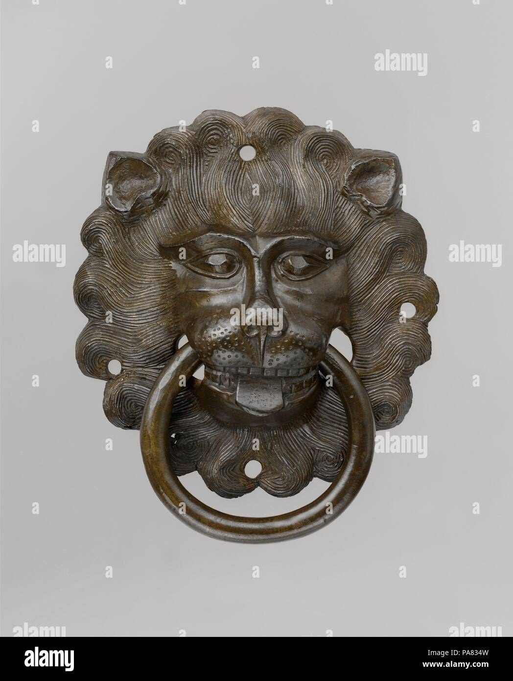 Lion Mask Door Pull Culture German Dimensions Overall 8 78 X 7
