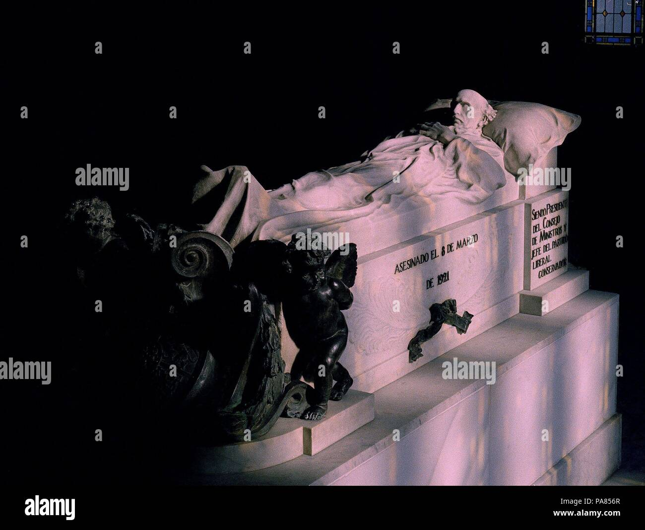 SEPULCRO DE EDUARDO DATO. Location: PANTEON DE HOMBRES ILUSTRES, MADRID, SPAIN. Stock Photo