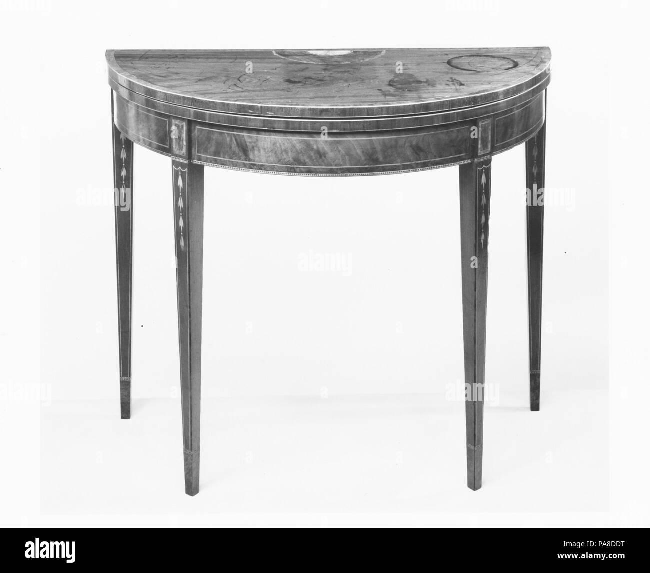 Superbe Card Table. Culture: American. Dimensions: 30 X 35 In. (76.2 X 88.9 Cm).  Date: 1790 1805. Museum: Metropolitan Museum Of Art, New York, USA.