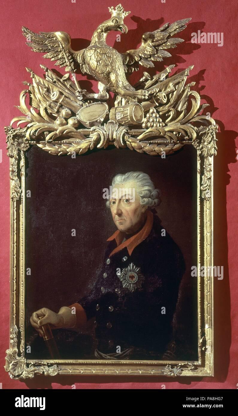 FEDERICO II EL GRANDE (1712-1786) REY DE PRUSIA. Author: WEITSCH FR. - Stock Image
