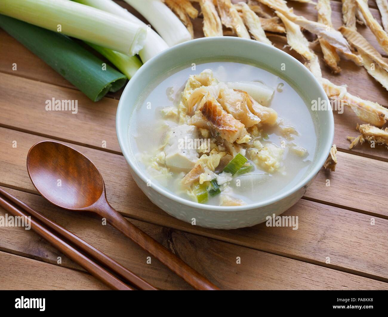 Korean food Dried pollack soup - Stock Image