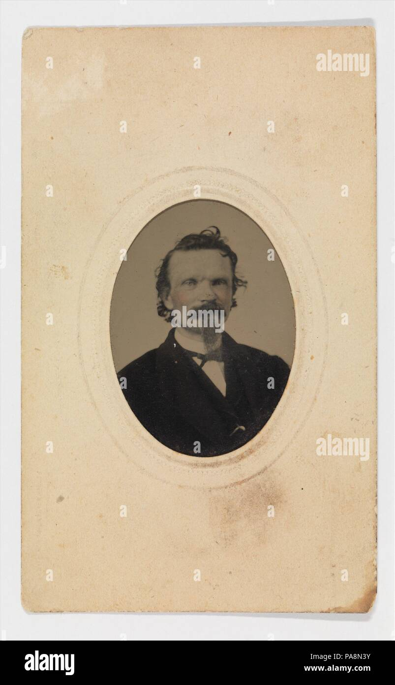 Tintype Photograph Of Gustave Young 1827 1895 Culture American Springfield
