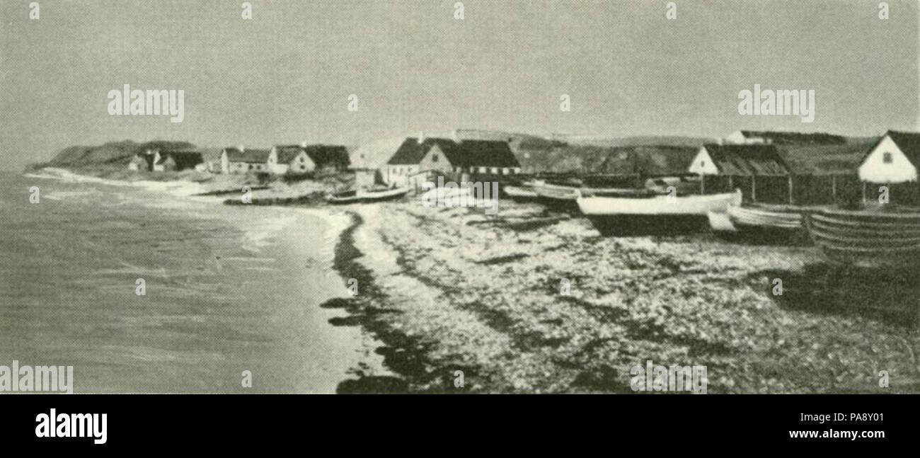 116 Hundested Havn (c. 1890) - Stock Image