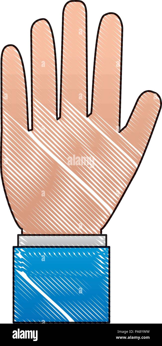 hand human stop icon - Stock Vector