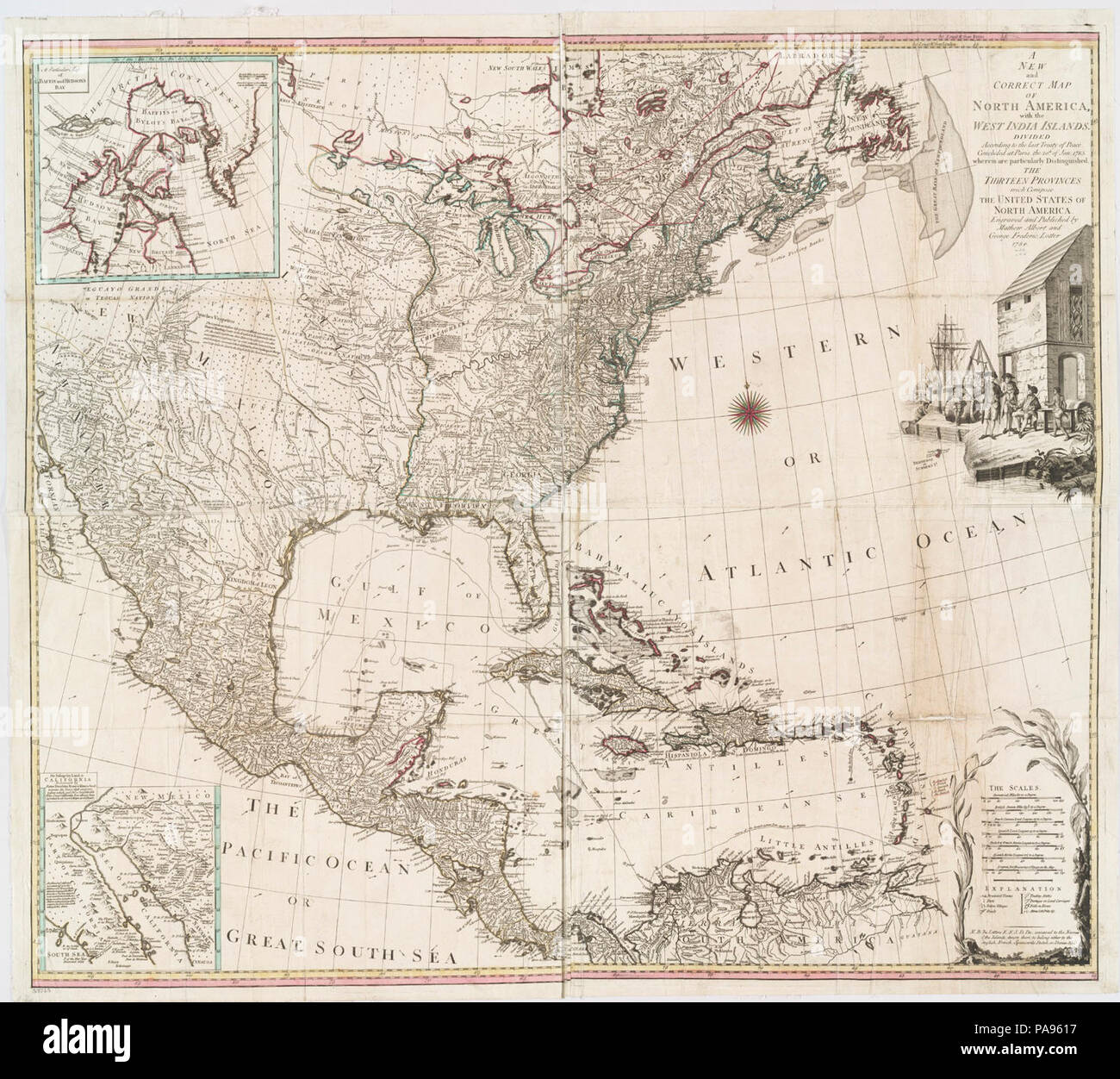 Treaty Of Paris Map 1783.A New And Correct Map Of North America With The West India Islands