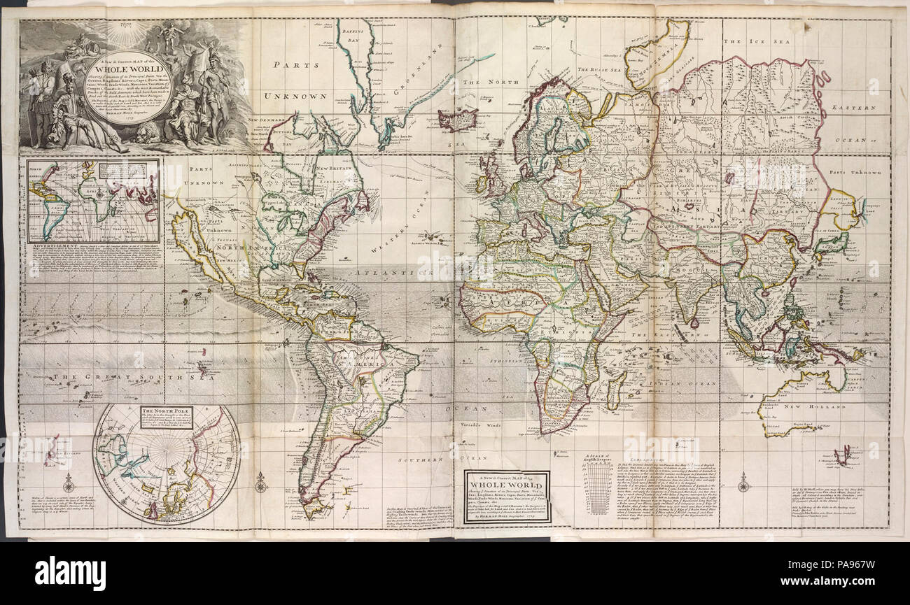 A new and correct map of the whole world, shewing ye ...