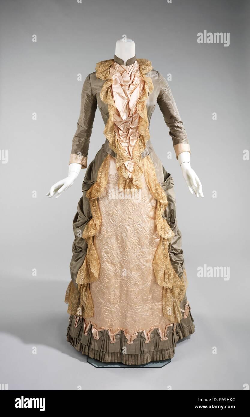 1880s Empire Waist Wedding Dress