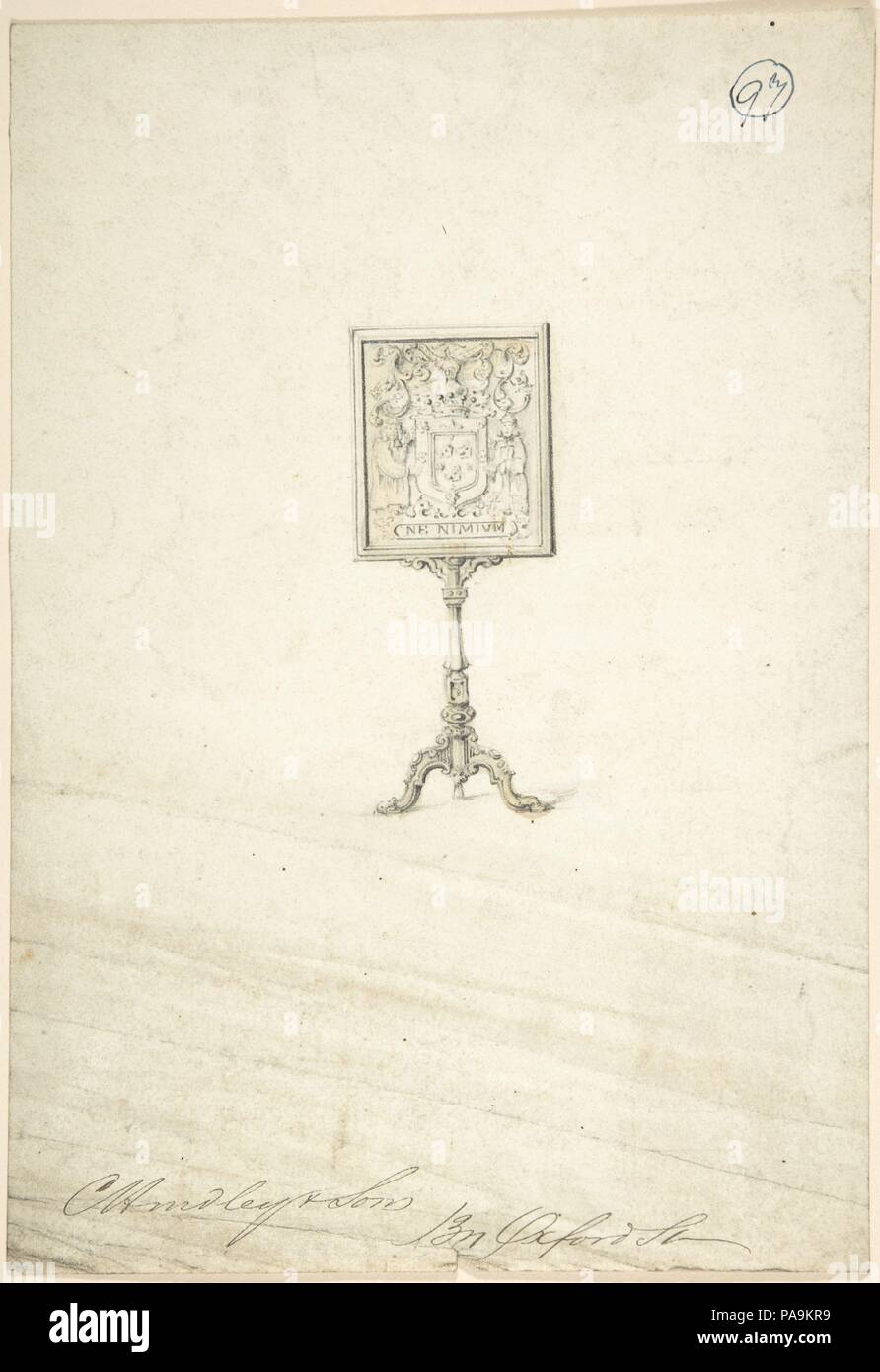 Design for a Standing Frame. Artist: Charles Hindley and Sons ...
