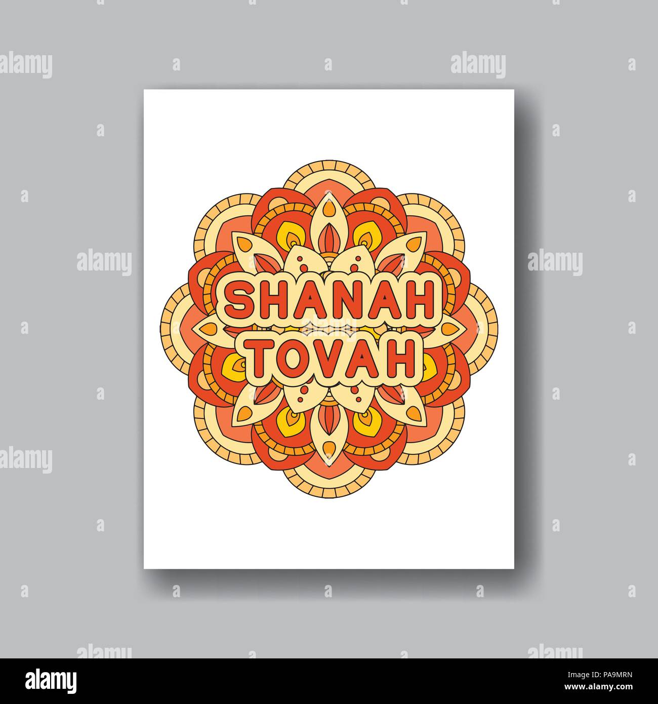 Rosh Hashanah Jewish New Year Greeting Card Design With Abstract