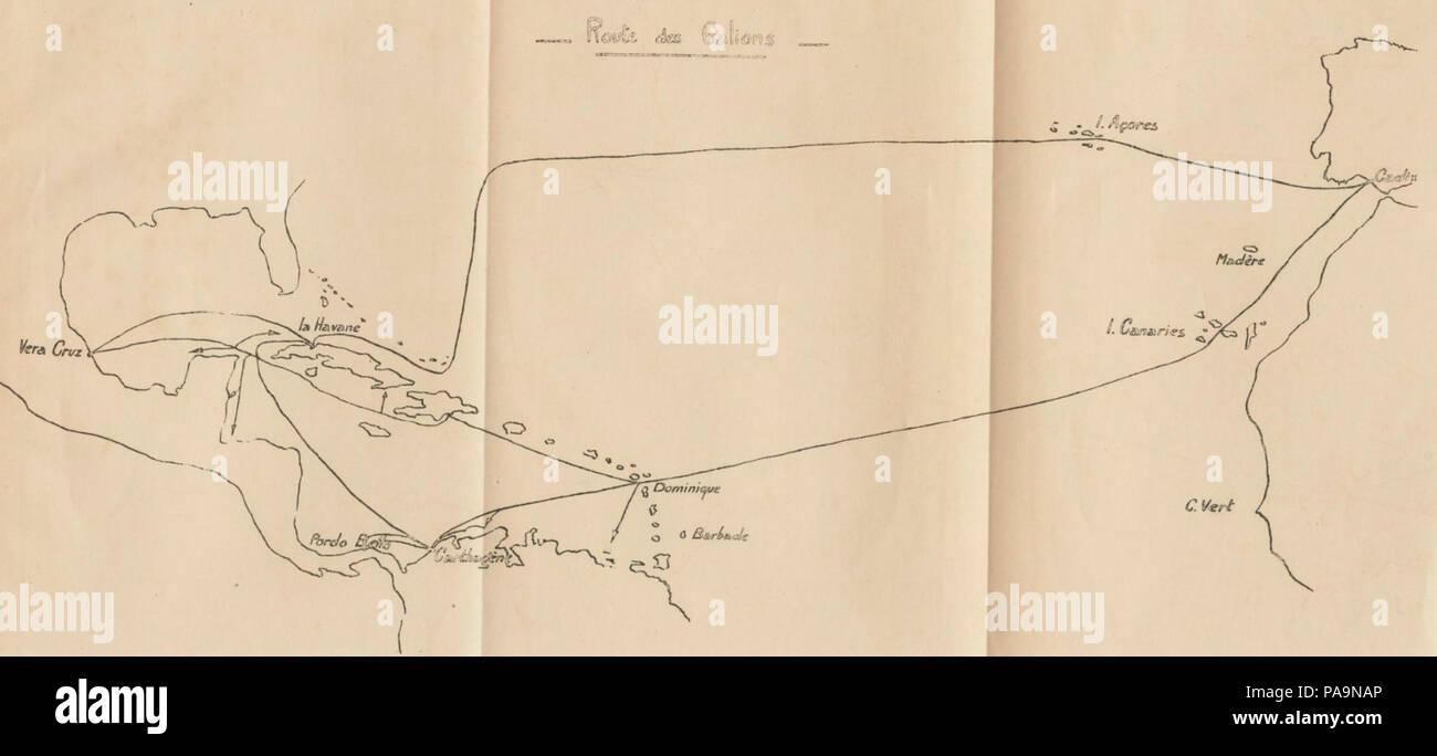 222 Route des galions espagnols pendant la guerre de Succession d'Espagne - Stock Image