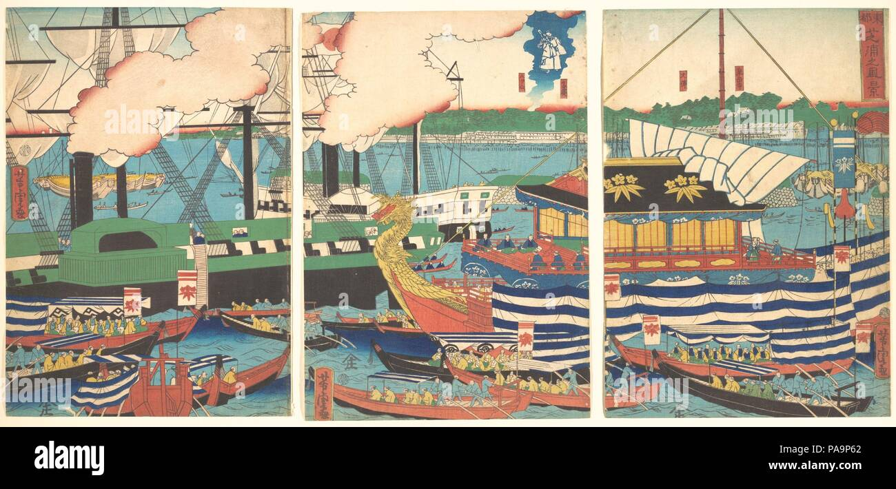 View of Shibaura, from the series Eastern Capital (Toto, Shibaura no ...