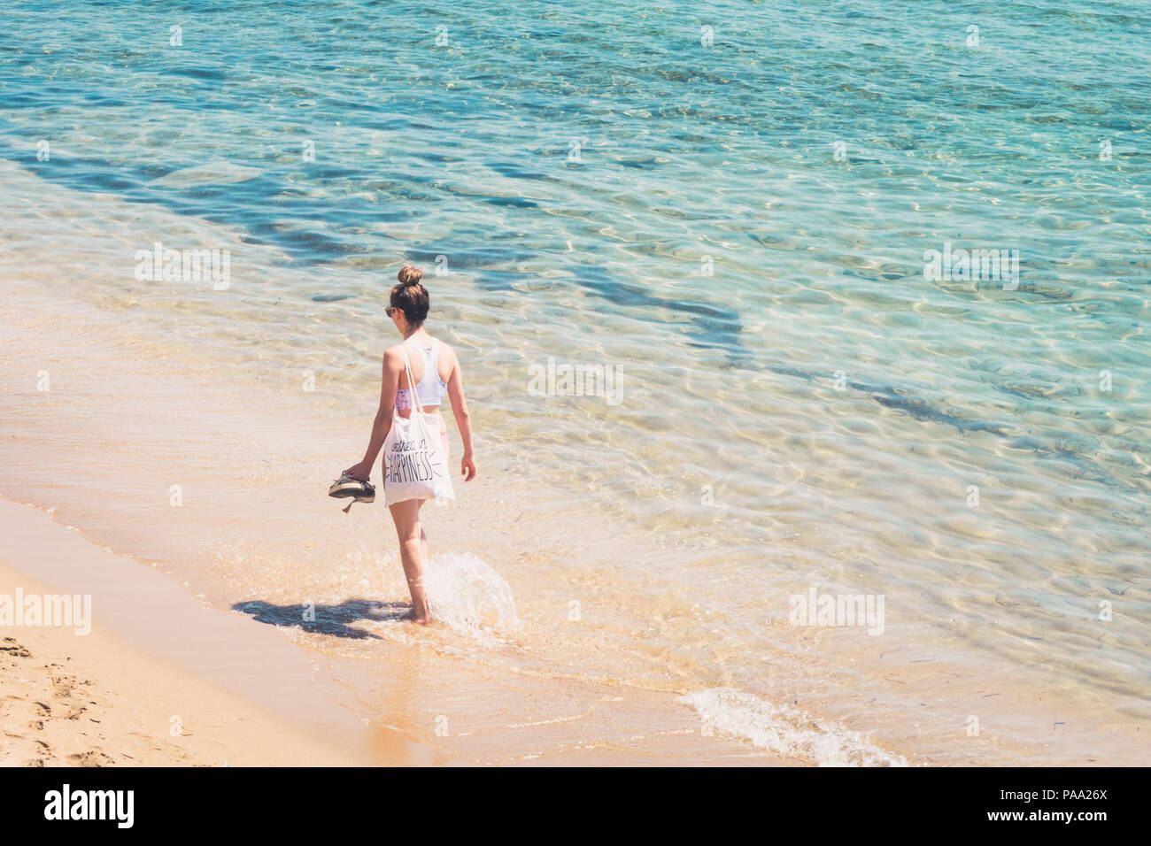 0307f850ad00 Woman Wearing Flip Flops Stock Photos   Woman Wearing Flip Flops ...