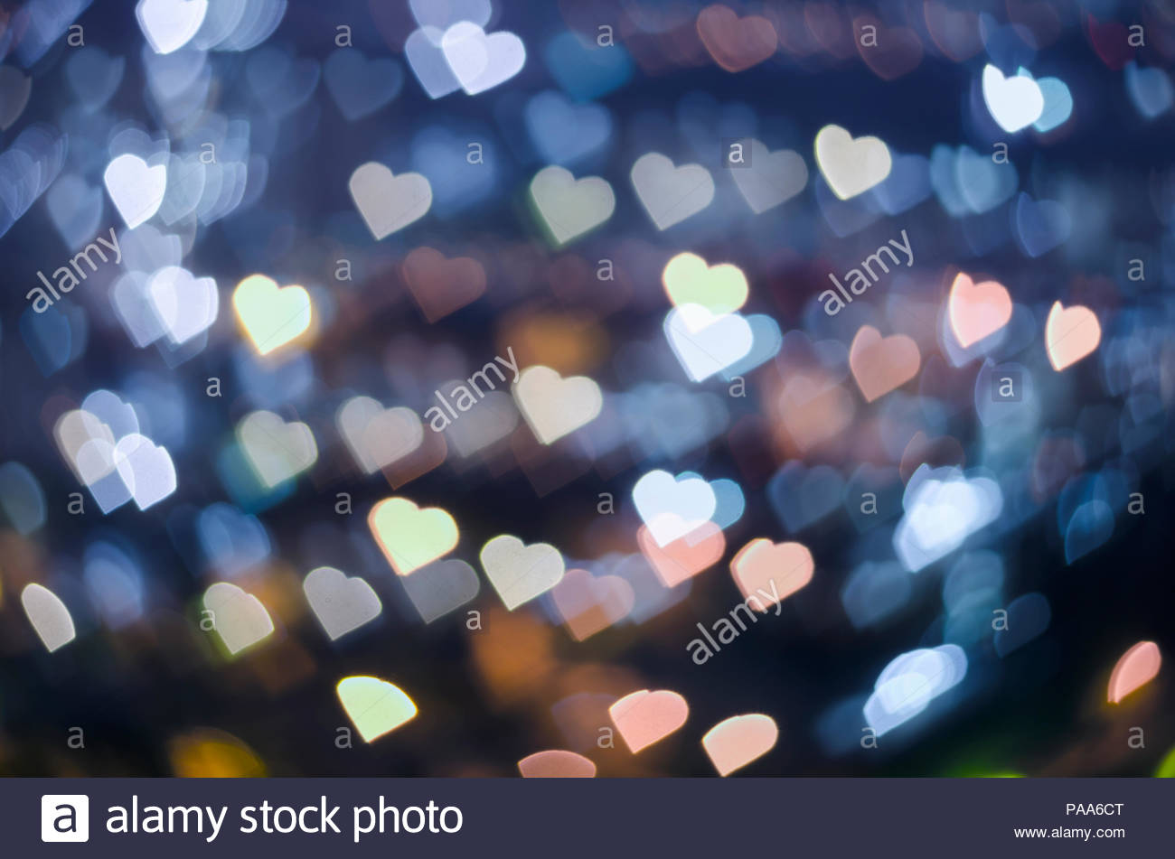 Bokeh Heart Shape Of Light Background Stock Footage Video: Out Of Focus Heart Shape Bokeh For Background Stock Photo