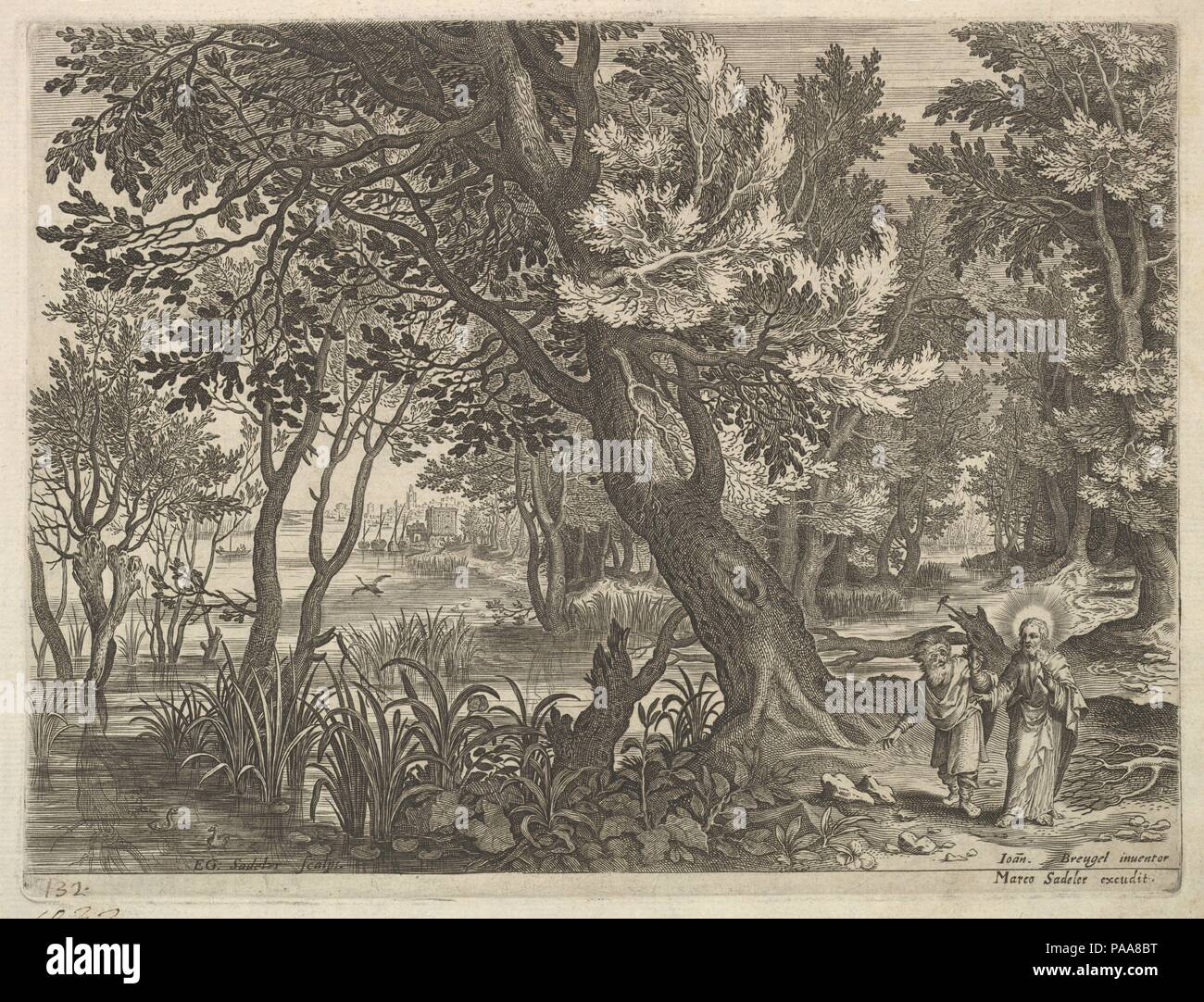 River View with Christ Tempted by the Devil. Artist: After Jan ...