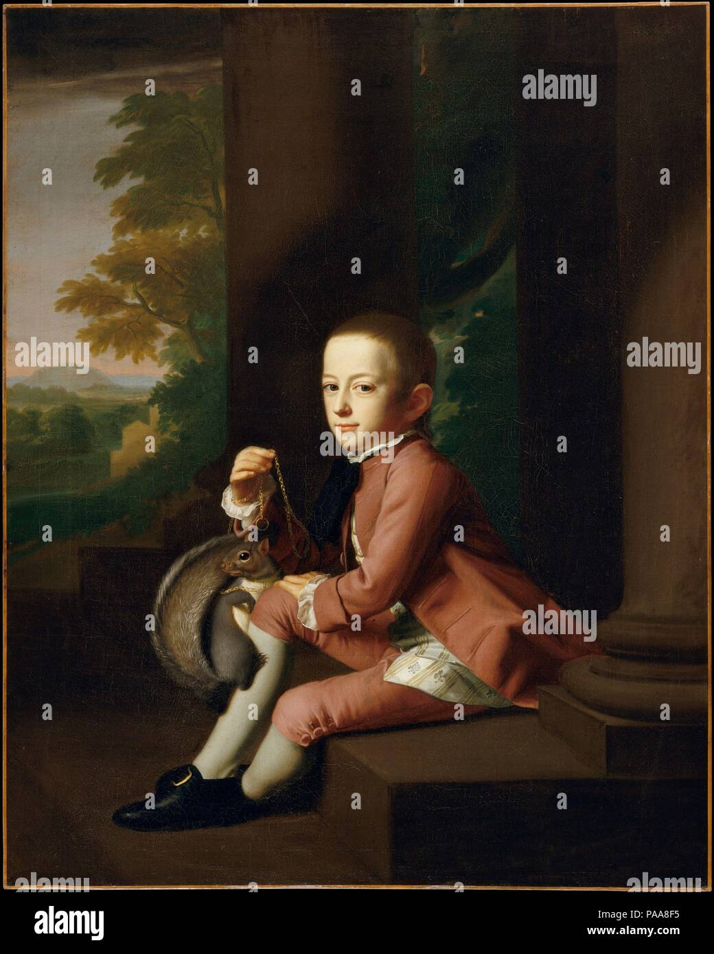 Daniel Crommelin Verplanck. Artist: John Singleton Copley (American, Boston, Massachusetts 1738-1815 London). Dimensions: 49 1/2 x 40 in. (125.7 x 101.6 cm). Date: 1771.  Daniel Crommelin Verplanck (1762-1834) was born in New York and spent the early part of his life in the family home on lower Wall Street. He was the eldest son of Judith Crommelin and Samuel Verplanck (39.173). While attending Columbia College (formerly King's College), he married Elizabeth Johnson, daughter of the president of Columbia. They had two children. Following her death in 1789, Verplanck married Ann Walton, with wh - Stock Image