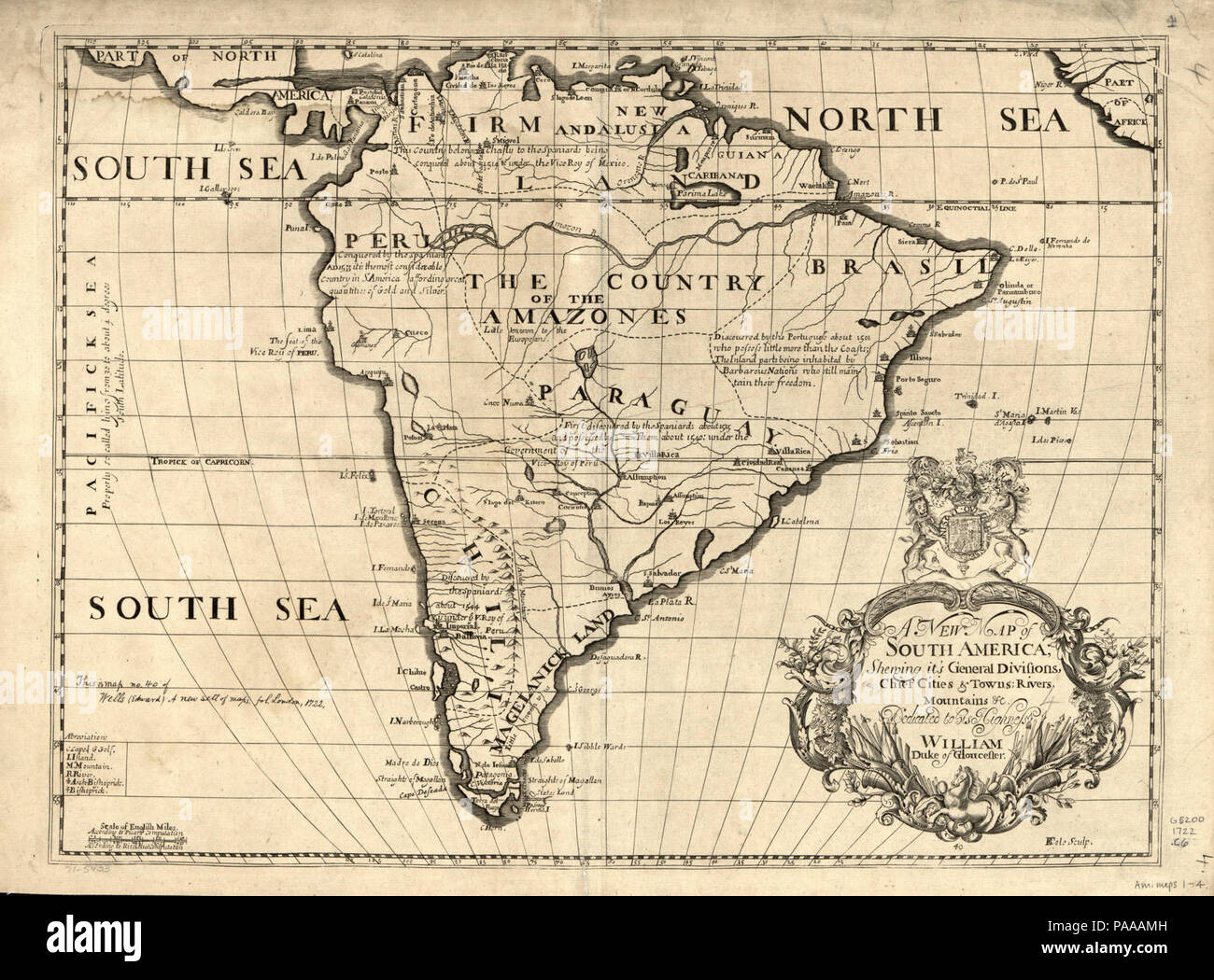 A New Map Of South America Shewing It S General Divisions Chief Cities Towns Rivers Mountains Etc Stock Photo Alamy