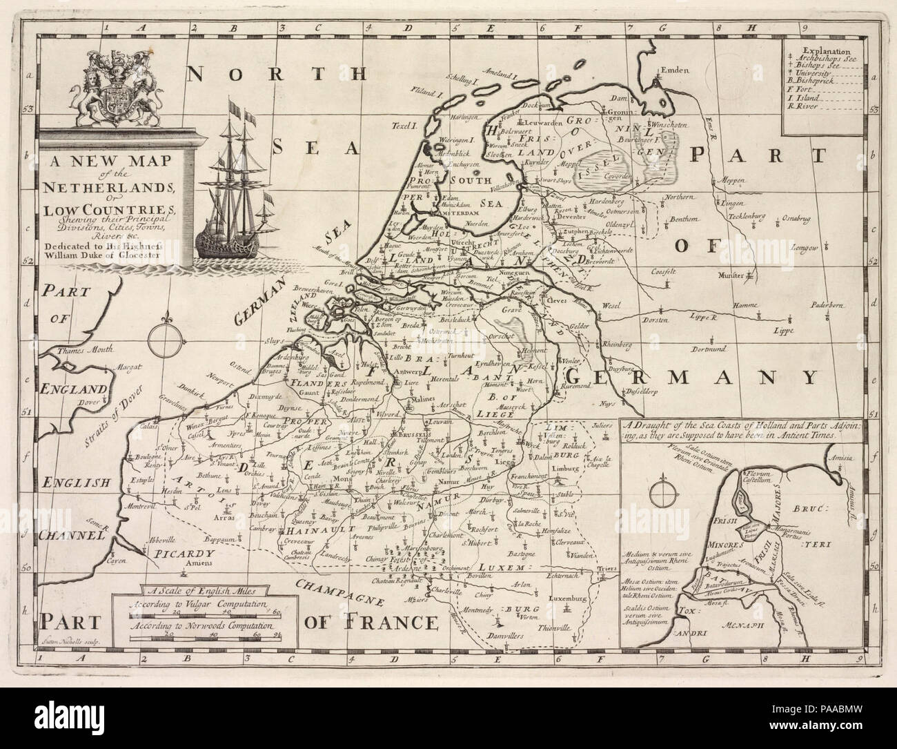A new map of the Netherlands or Low Countries, shewing their ...