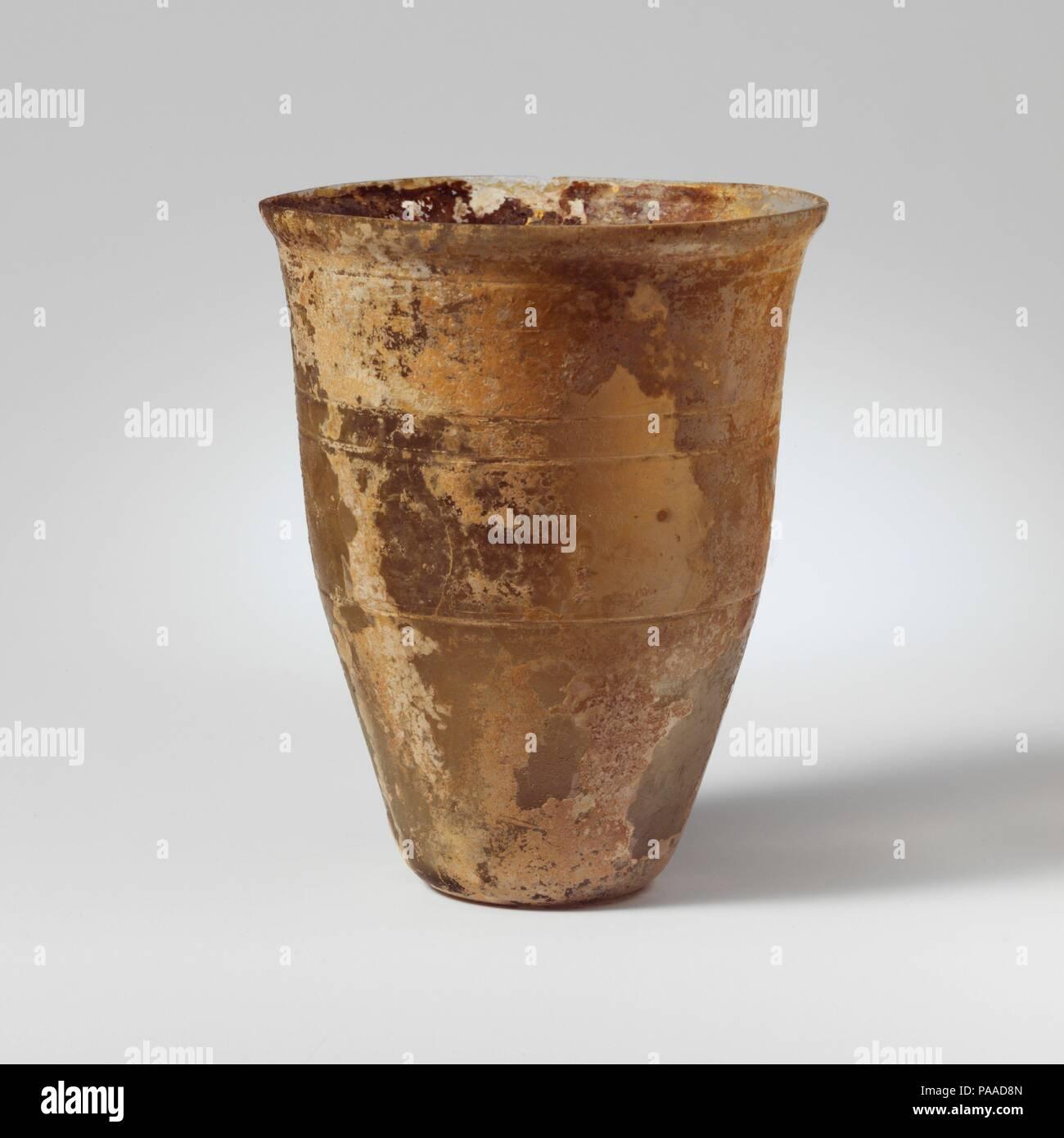 5deb3b2e60 (9.5 cm) Diameter  3in. (7.6 cm). Date  1st century A.D.. Colorless with  faint greenish tinge. Knocked-off rim  slightly bulging collar below rim   ...