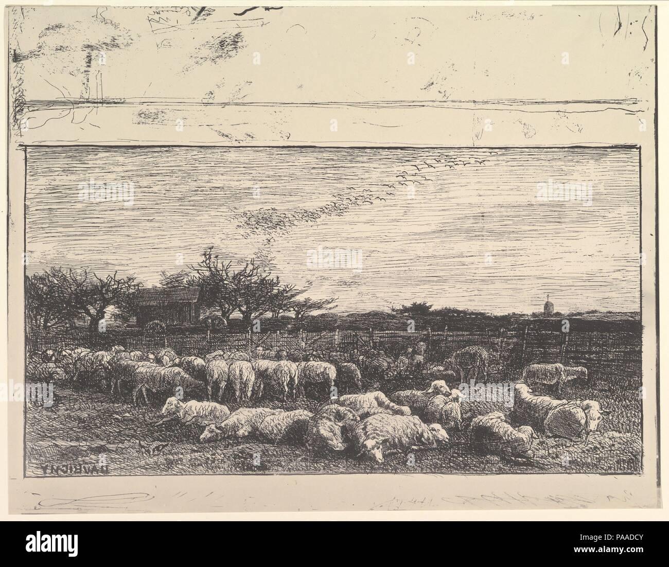 The Sheep Meadow. Artist: Charles-François Daubigny (French, Paris ...
