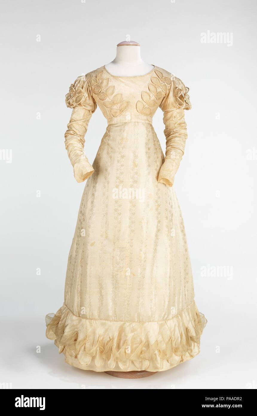 Wedding Dress Culture American Date 1824 White Was Not A Monplace: 1820s Wedding Dress Box At Websimilar.org