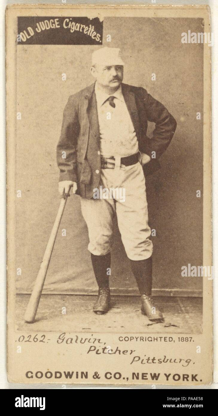 James Francis Pud Galvin Pitcher Pittsburgh From The Old Judge