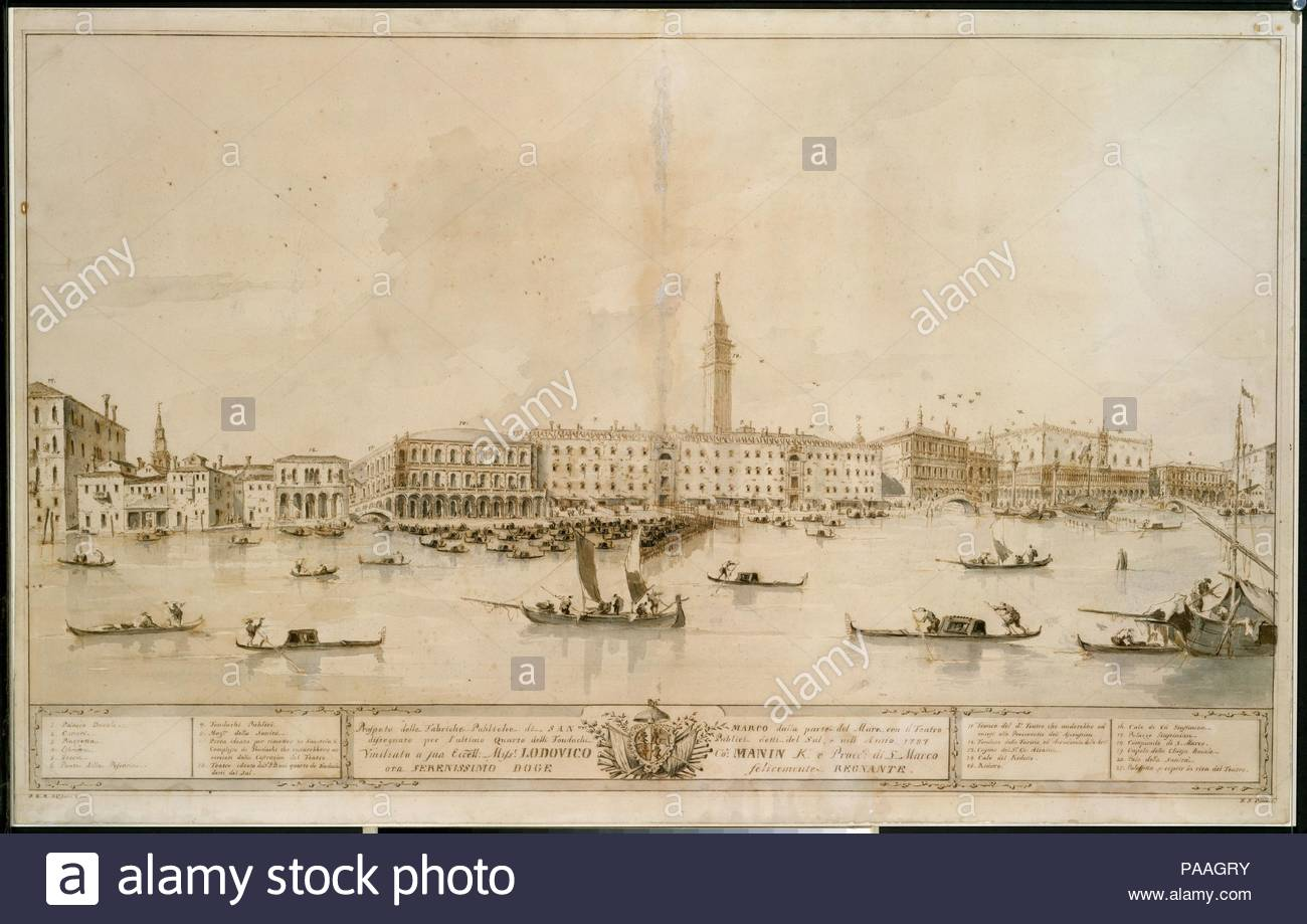 Panorama of Venice from the Bacino di San Marco, Including the ...