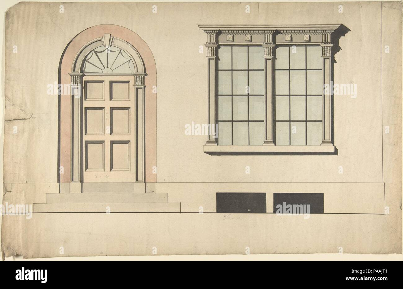Design For An Exterior Doorway And Window Artist Anonymous British Early 19th Century Dimensions Sheet 9
