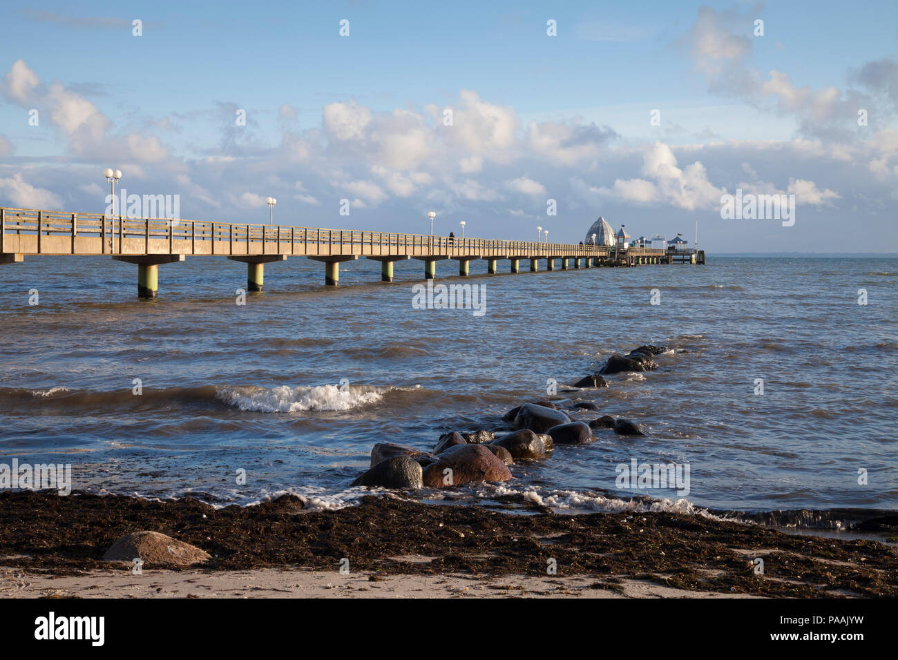 Pier with diving Gondola, Groemitz, Schleswig-Holstein, Germany, Europe Stock Photo