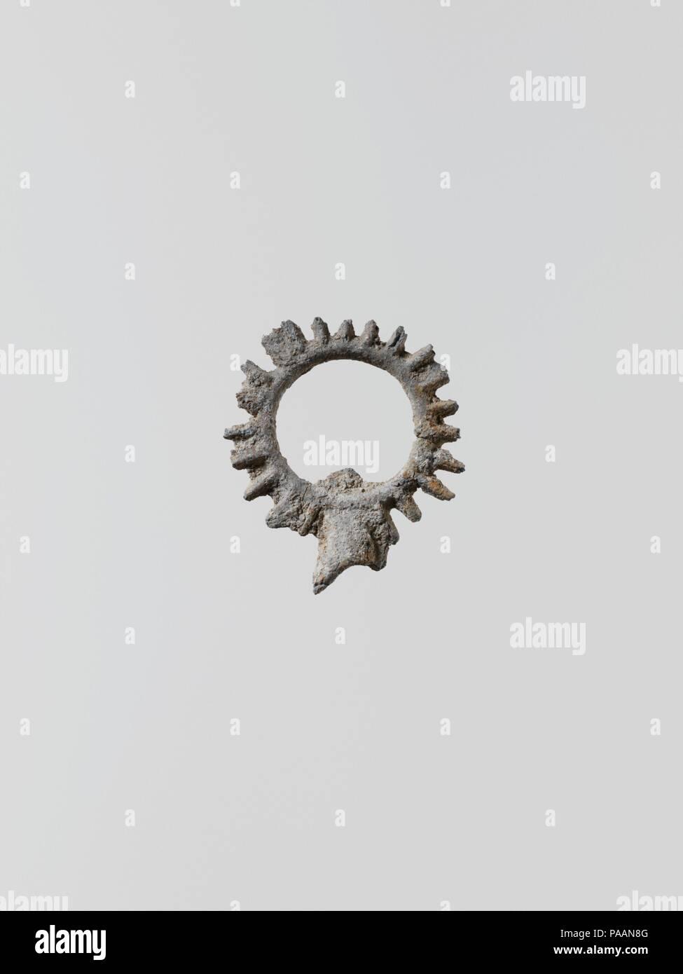Wreaths, 11. Culture: Greek, Laconian. Dimensions: 15/16 × 3/4 in. (2.3 × 2 cm). Museum: Metropolitan Museum of Art, New York, USA. Stock Photo