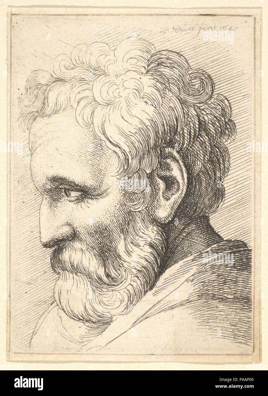 Bearded Old Man Artist Wenceslaus Hollar Bohemian Prague 1607 1677 London Dimensions Plate 2 3 4 2 In 7 5 1 Cm Sheet 2 13 16 2 1 16 In 7 2 5 2 Cm