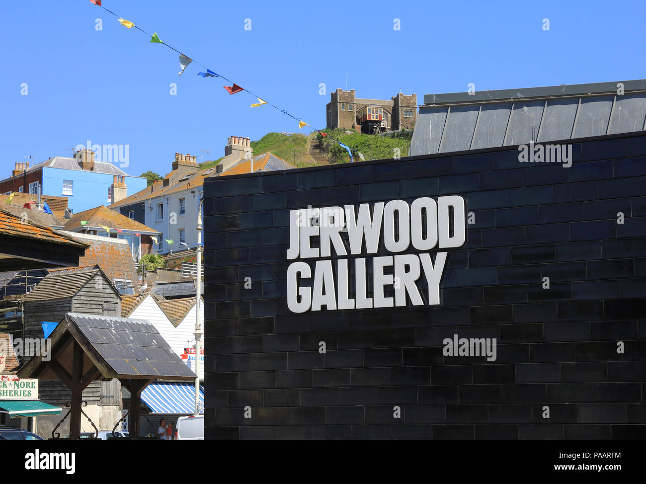 The award winning Jerwood Gallery, a museum of contemporary British art, located on The Stade, in Hastings, East Sussex, UK - Stock Image