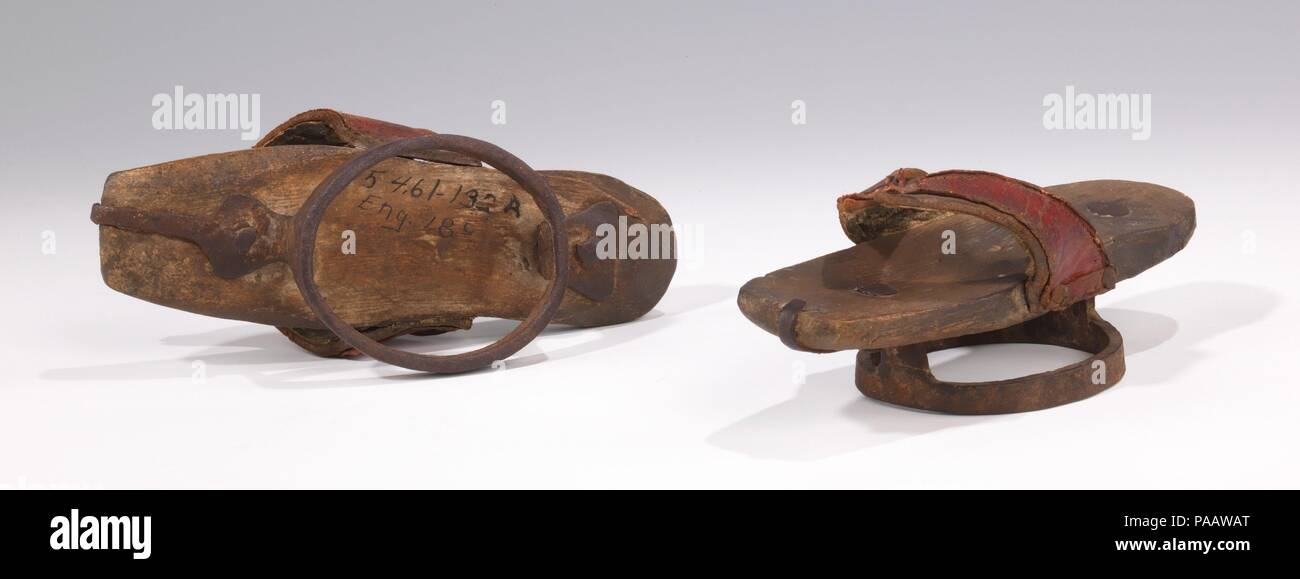 fb457ad36e2a Pattens. Culture  British. Date  1830-50. Women s shoes of the early ...