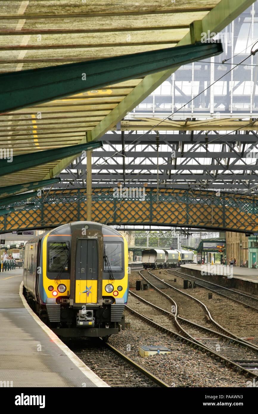 Transpennine class 350 electric train at Carlisle station, UK. - Stock Image