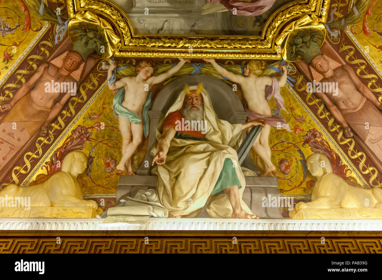 Vatican Mural Painting Wall Rome Stock Photos & Vatican Mural ...