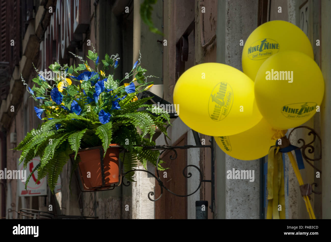 Colourful decoration outside a shop in Rome Stock Photo: 212915149 on