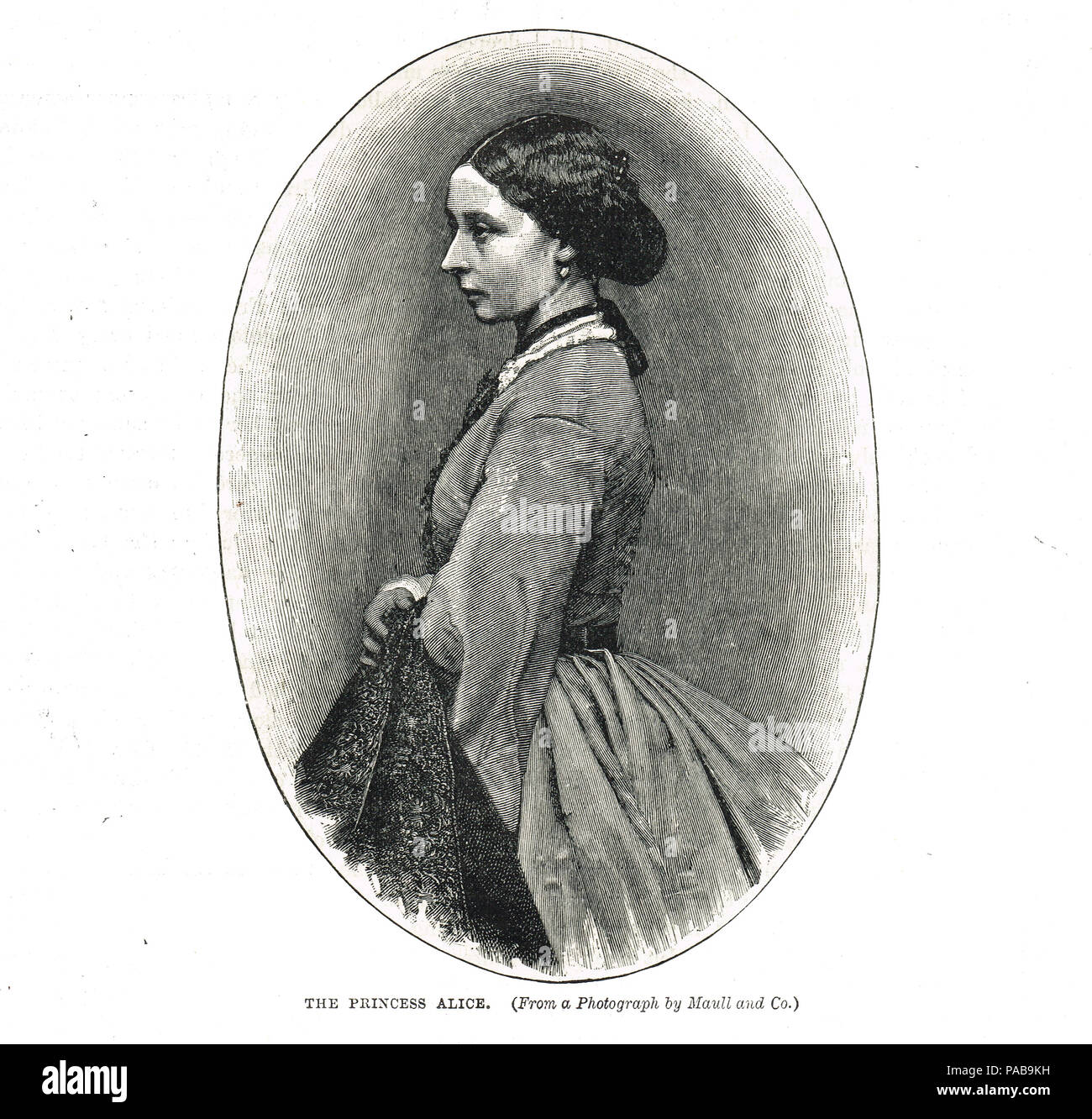 Princess Alice of the United Kingdom, Grand Duchess of Hesse and by Rhine, died of diphtheria in 1878, second daughter of Queen Victoria and Prince Albert - Stock Image