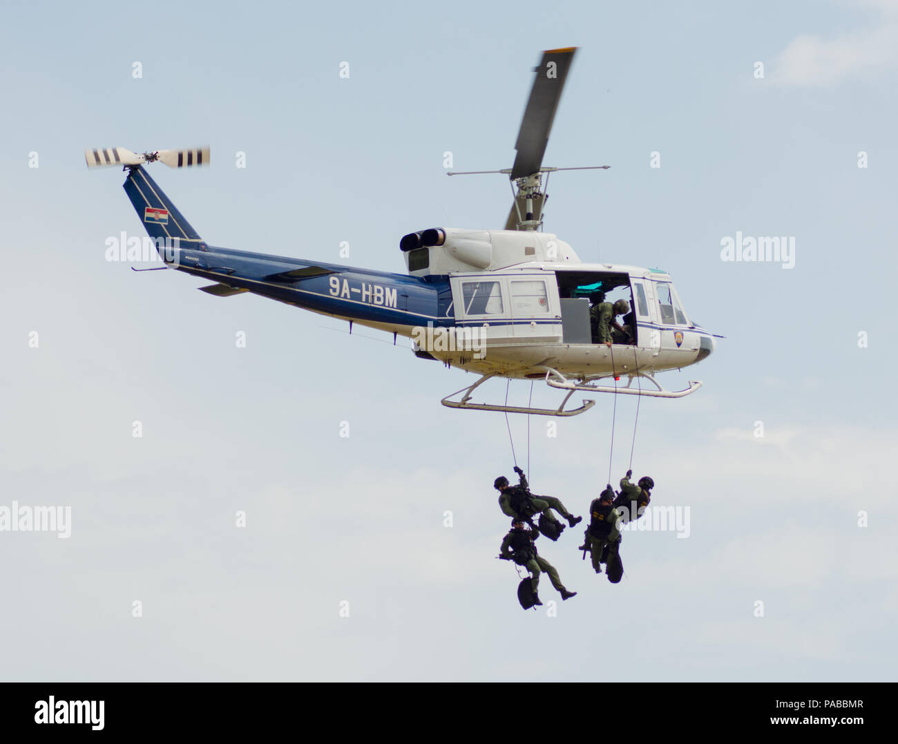 Croatian police helicopter AB 212 - Stock Image