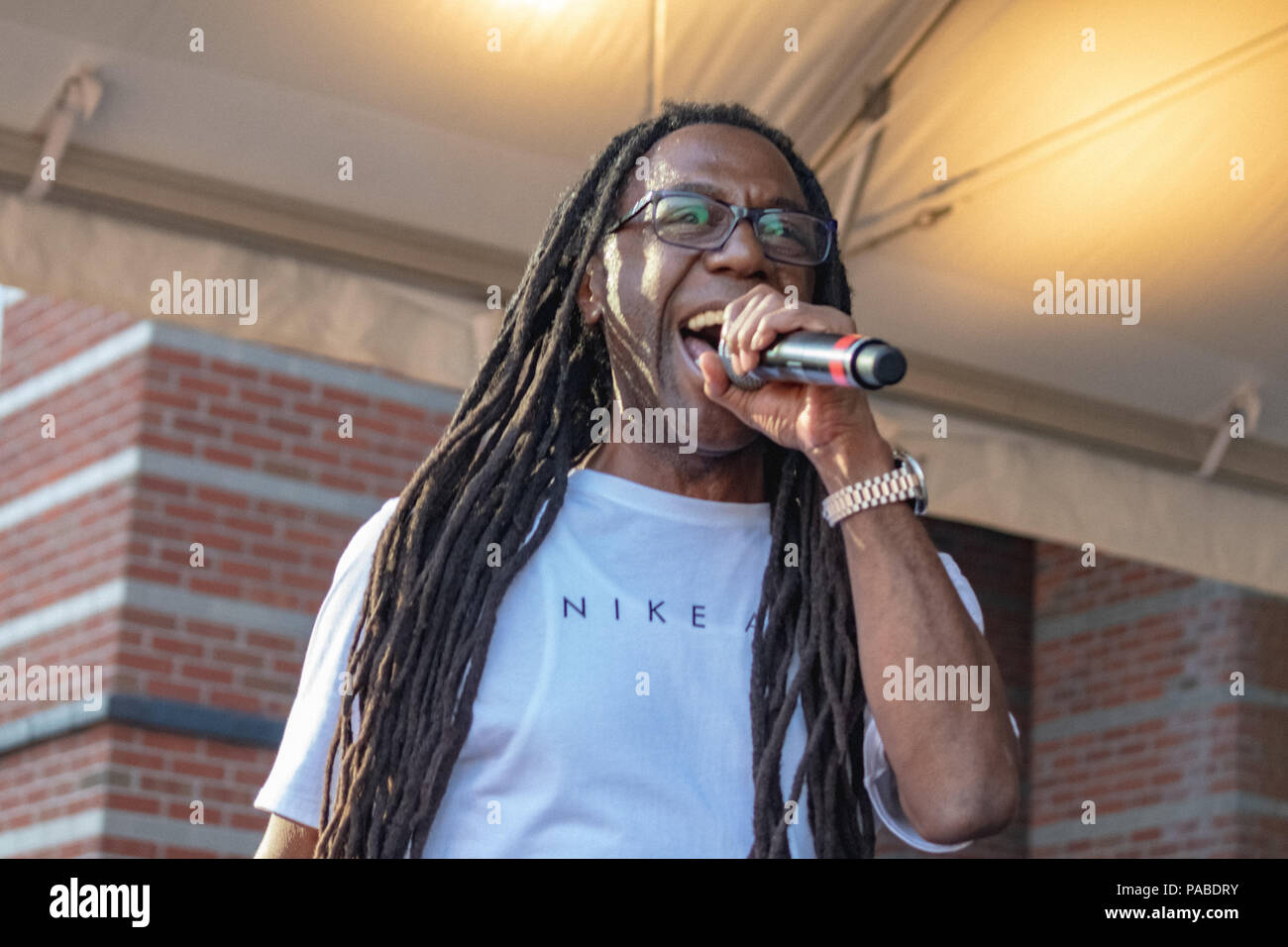 BUSY BEE HOSTING EPMD CONCERT AT NJ PAC July 19,2018 Stock Photo