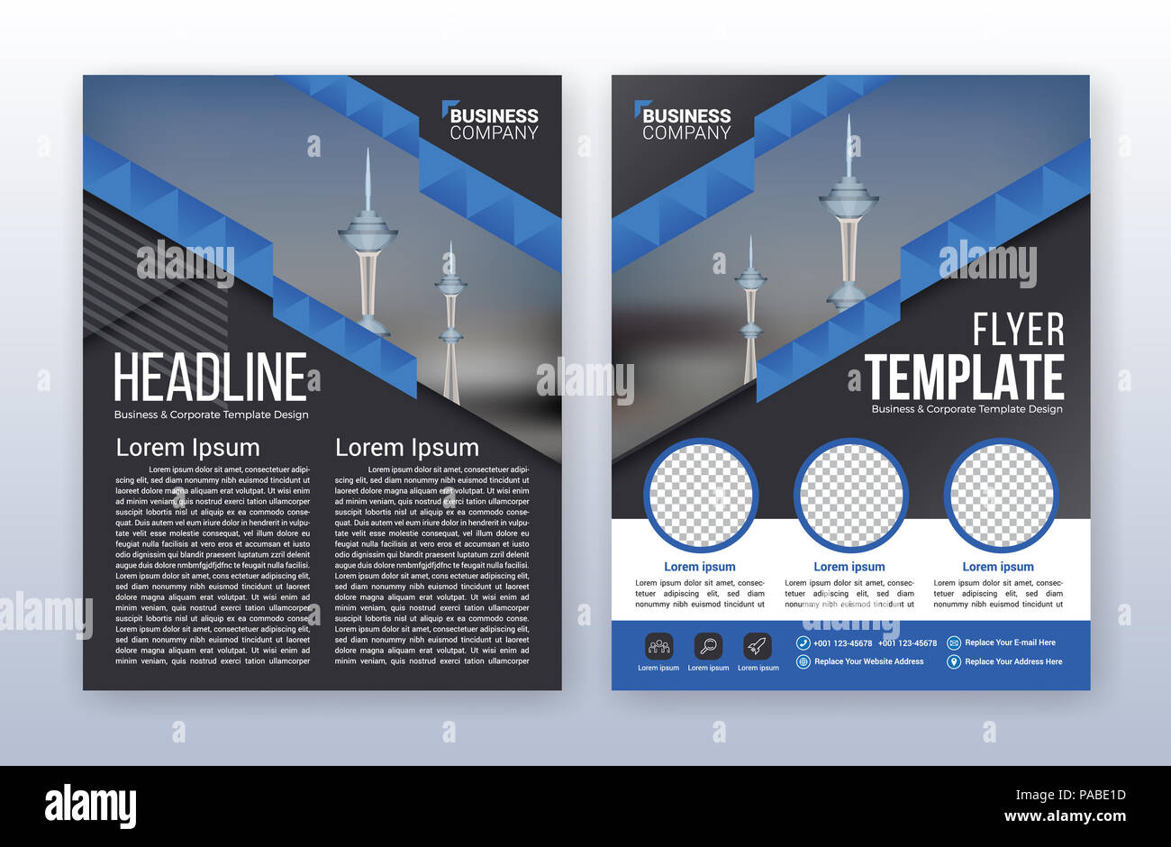 Modern Business Annual Report Template Multipurpose Flyter