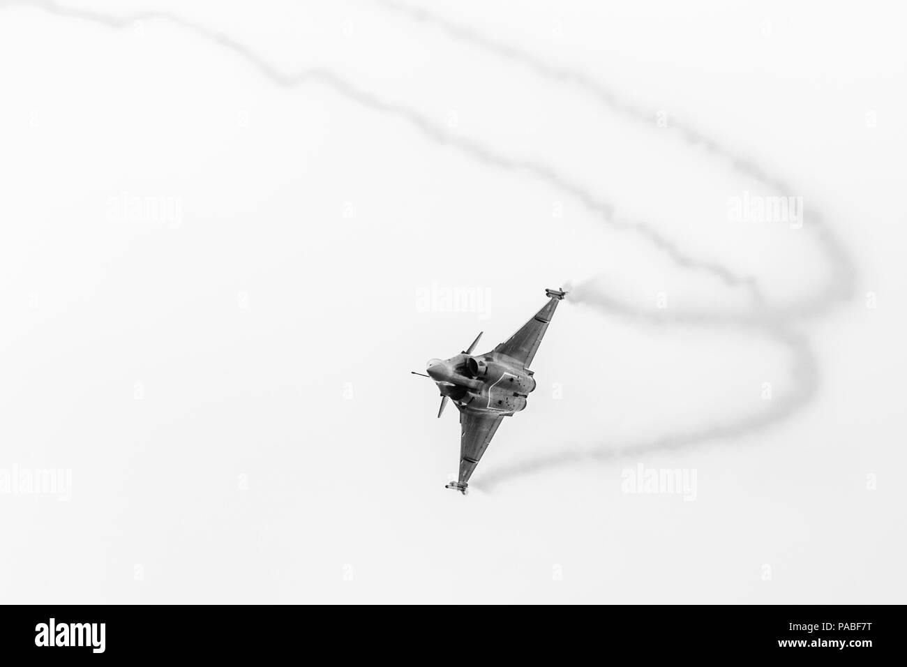 French Air Force Rafale C pictured at the 2018 Royal International Air Tattoo at RAF Fairford in Gloucestershire. - Stock Image